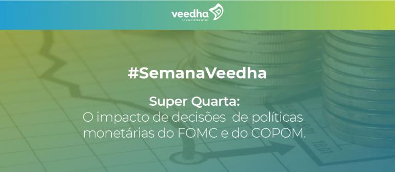 """""""Semana Veedha – O impacto de decisões de políticas monetárias do FOMC e do COPOM"""""""
